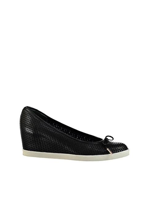 Elle Dolgu Topuklu Ayakkabı Siyah
